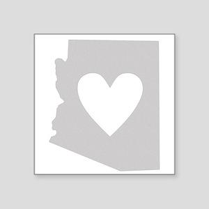 """Heart Arizona Square Sticker 3"""" x 3"""""""