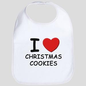 I love christmas cookies Bib