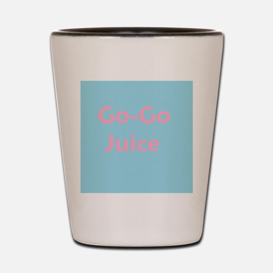 Go Go Juice in Pink and Blue Shot Glass