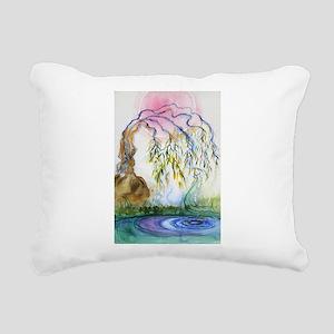 Weeping Willow Rectangular Canvas Pillow