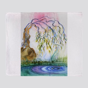 Weeping Willow Throw Blanket