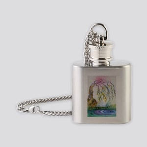 Weeping Willow Flask Necklace