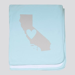Heart California baby blanket