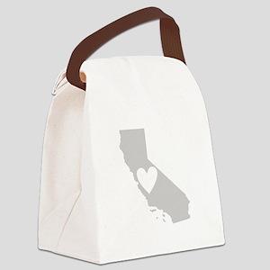 Heart California Canvas Lunch Bag