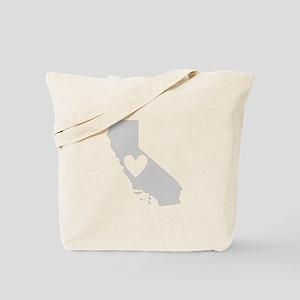 Heart California Tote Bag