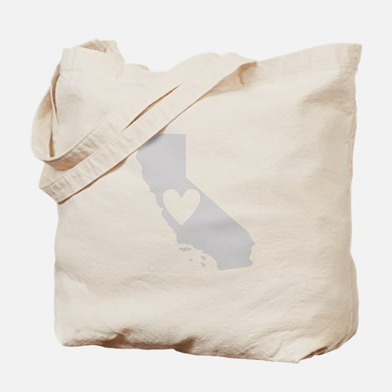Heart California Tote Bag