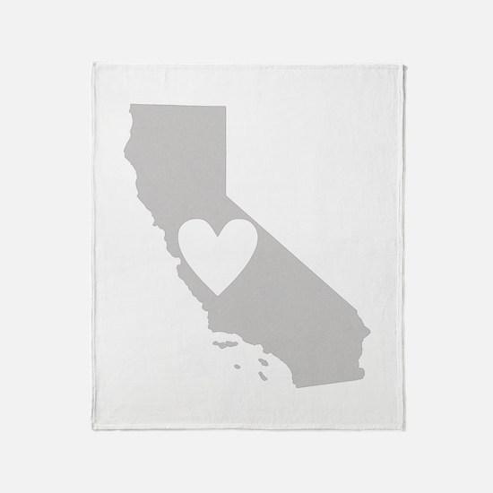 Heart California Throw Blanket