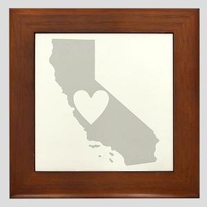 Heart California Framed Tile
