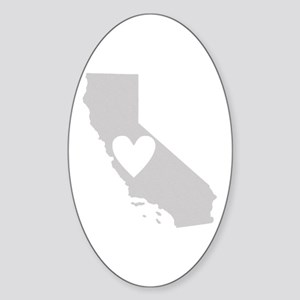 Heart California Sticker (Oval)