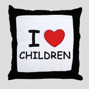 I love children Throw Pillow