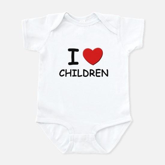 I love children Infant Bodysuit