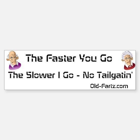 No Tailgatin' Sticker (Bumper)