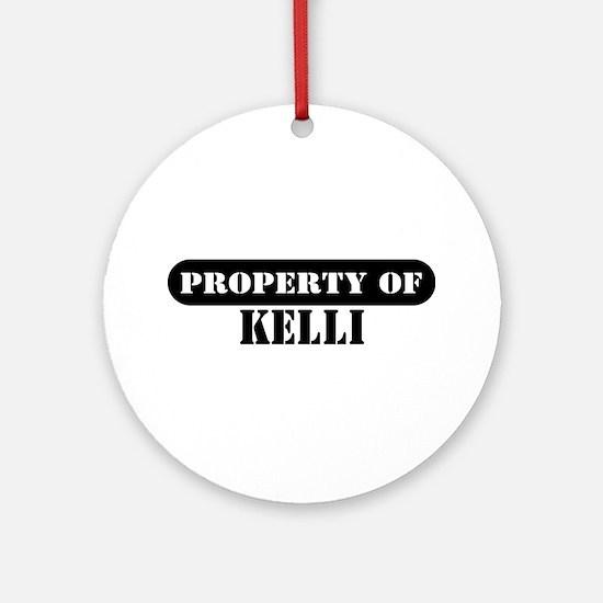 Property of Kelli Ornament (Round)