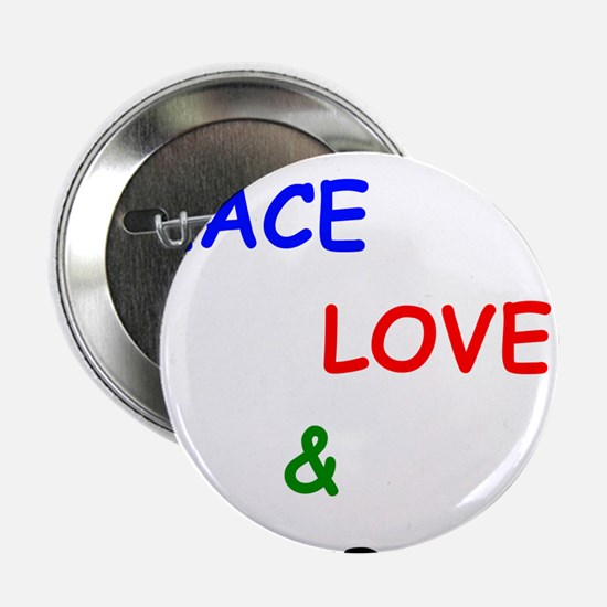 """Peace Love and Softball 2.25"""" Button"""