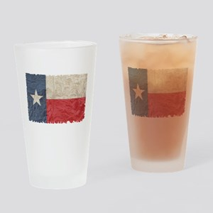Texas Flag Drinking Glass