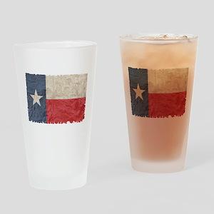 Texas Flag Drinking Glass
