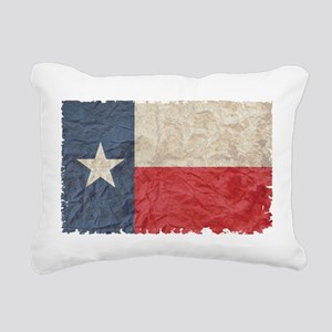Texas Flag Rectangular Canvas Pillow