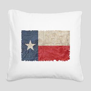 Texas Flag Square Canvas Pillow