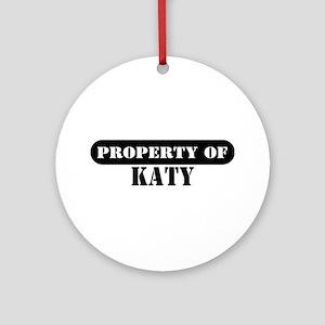 Property of Katy Ornament (Round)