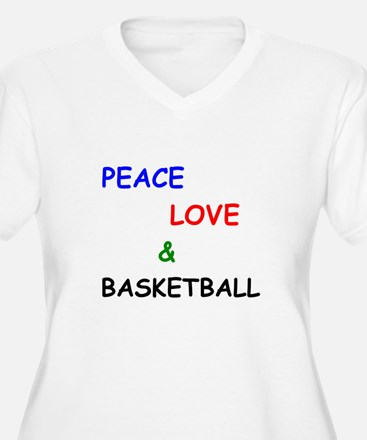 Peace Love and Basketball Plus Size T-Shirt