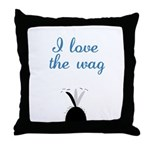 Love the Wag Throw Pillow