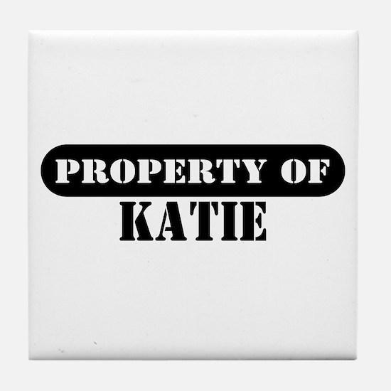 Property of Katie Tile Coaster