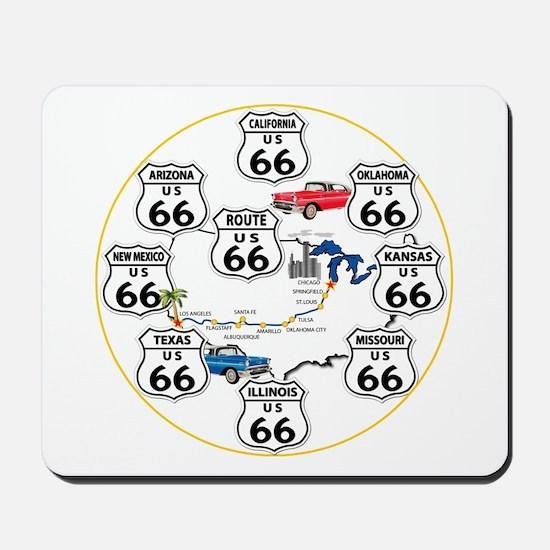U.S. ROUTE 66 - All Routes Mousepad
