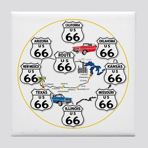 U.S. ROUTE 66 - All Routes Tile Coaster