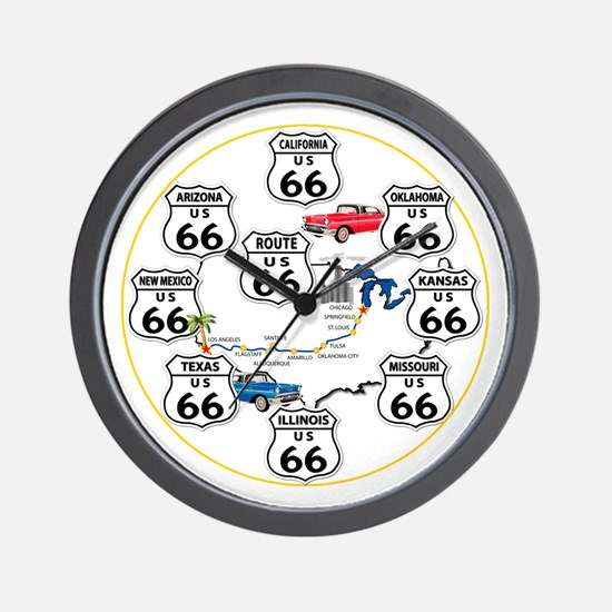 U.S. ROUTE 66 - All Routes Wall Clock