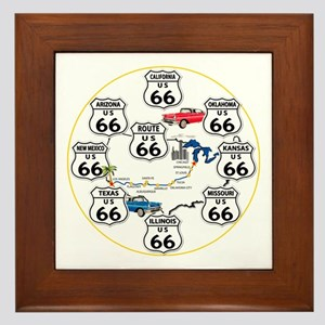 U.S. ROUTE 66 - All Routes Framed Tile