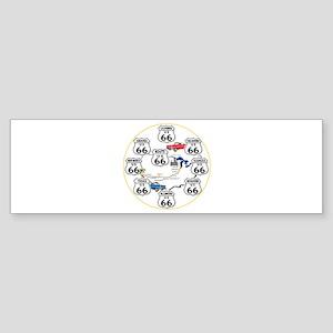 U.S. ROUTE 66 - All Routes Sticker (Bumper)
