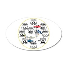 U.S. ROUTE 66 - All Routes Wall Decal