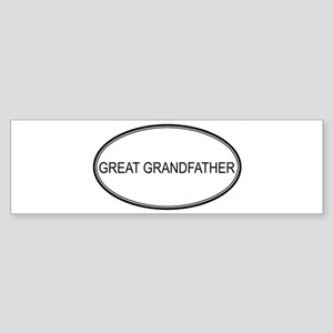 Oval: Great Grandfather Bumper Sticker
