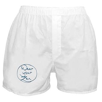 Boxer Shorts - Wear Your Zen blue