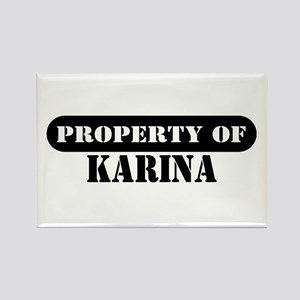 Property of Karina Rectangle Magnet