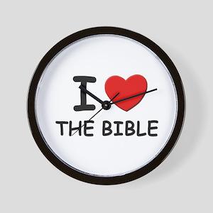 I love the bible Wall Clock