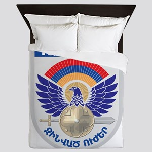 Armenian Military Seal Queen Duvet