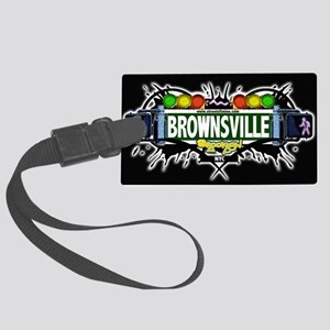 Brownsville Brooklyn NYC (Black) Large Luggage Tag