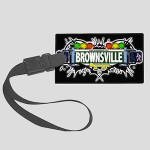 Brownsville Brooklyn NYC (Black) Large Luggage Tag