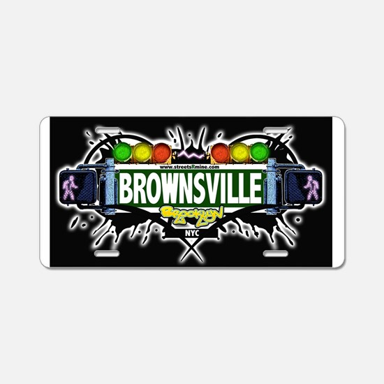 Brownsville Brooklyn NYC (Black) Aluminum License