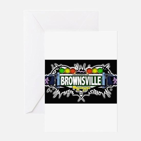 Brownsville Brooklyn NYC (Black) Greeting Card