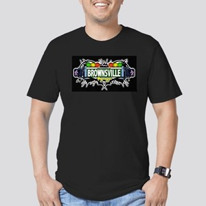 Brownsville Brooklyn NYC (Black) Men's Fitted T-Sh