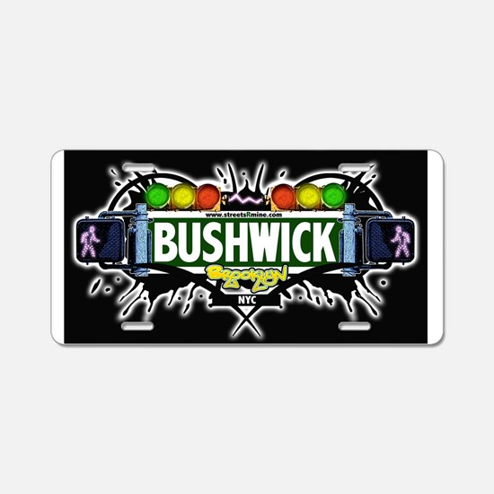 Bushwick Brooklyn NYC (Black) Aluminum License Pla