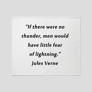 Verne On Thunder Throw Blanket