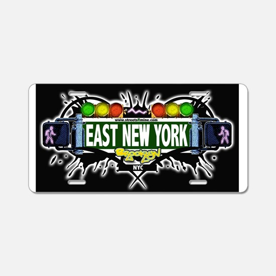 East New York Brooklyn NYC (Black) Aluminum Licens