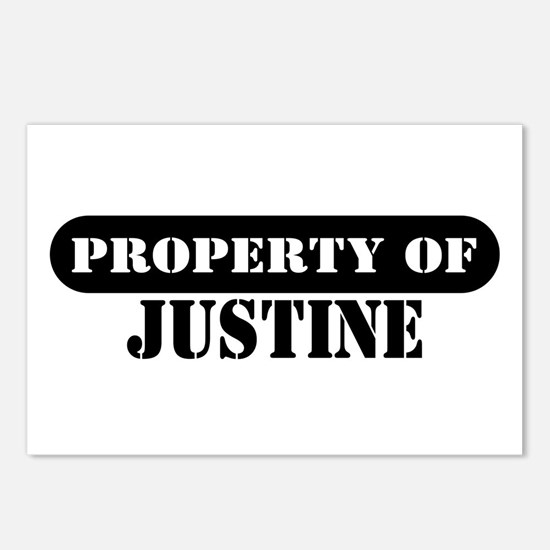 Property of Justine Postcards (Package of 8)