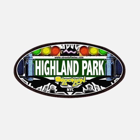 Highland Park Brooklyn NYC (Black) Patches