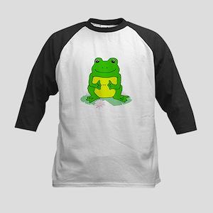 Smiling Froggy Kids Baseball Jersey