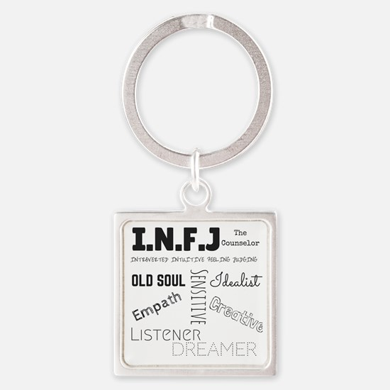 Cute Myers briggs Square Keychain