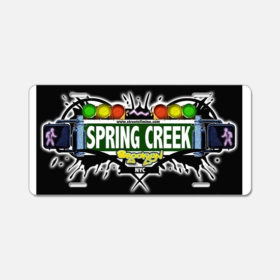 Spring Creek Brooklyn NYC (Black) Aluminum License
